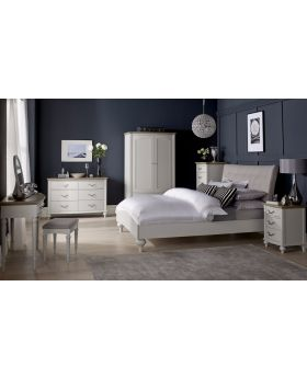Bentley Designs Montreux Soft Grey 135Cm Upholstered Bed - Diamond Stitch
