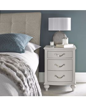 Bentley Designs Montreux Soft Grey 3 Drawer Nightstand