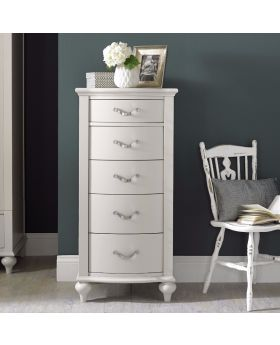 Bentley Designs Montreux Soft Grey 5 Drawer Tall Chest