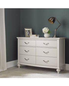 Bentley Designs Montreux Soft Grey 6 Drawer Wide Chest