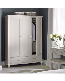 Bentley Designs Montreux Soft Grey Triple Wardrobe