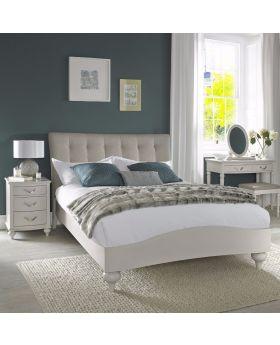 Bentley Designs Montreux Soft Grey 150Cm Upholstered Bed - Vertical Stitch