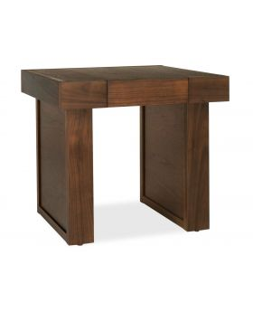 Bentley Designs Akita Walnut Lamp Table