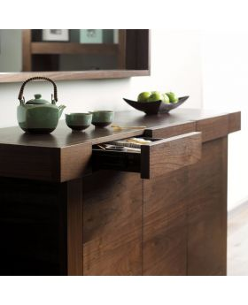 Bentley Designs Akita Walnut Wide Sideboard