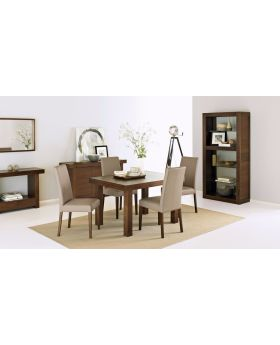 Bentley Designs Akita Walnut 4-6 End Extension Dining Table