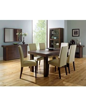 Bentley Designs Akita Walnut 6-8 End Extension Dining Table