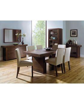 Bentley Designs Akita Walnut 200Cm Panel Dining Table