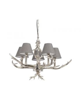 Libra Nickel Antler Chandelier