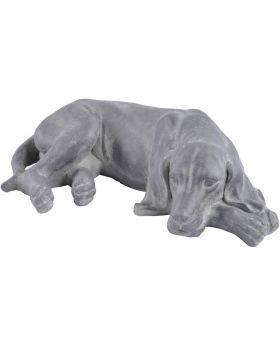 Libra Concrete Finish Laying Dog Sculpture