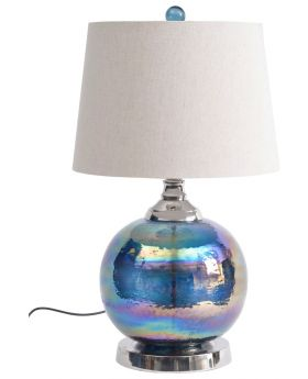 Libra Iridescent Blue Green Table Lamp