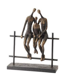 Libra Duxford Bench Family of 3 Sculpture