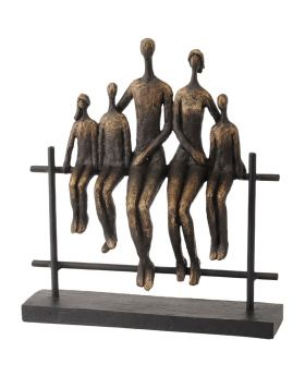 Libra Duxford Bench Family of 5 Sculpture