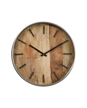 Libra Wood Round Wall Clock