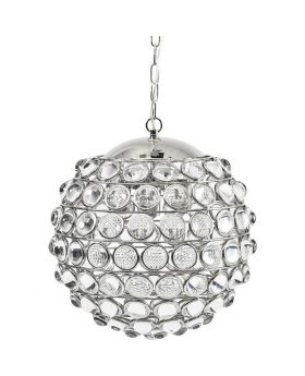 Libra Oakley Round Nickel Crystal Chandelier