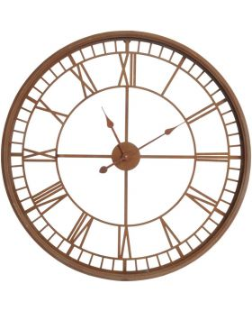 Libra Antique Rust Skeleton Wall Clock