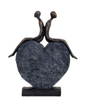 Libra Couple's Love Heart Sculpture