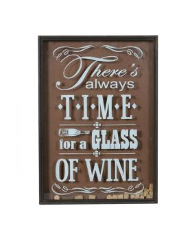 Time For Wine - Cork Deposit Wall Sign