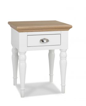 Bentley Designs Hampstead Two Tone Lamp Table - Turned Leg