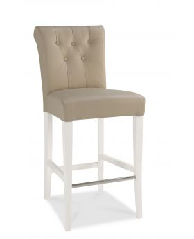 Bentley Designs Hampstead Two Tone Upholstered Bar Stool (Pair)