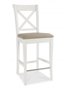 Bentley Designs Hampstead Two Tone X Back Bar Stool (Pair)