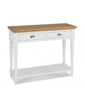 Bentley Designs Hampstead Two Tone Console Table - Turned Leg