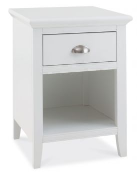 Bentley Designs Hampstead White 1 Drawer Nightstand