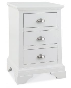 Bentley Designs Hampstead White 3 Drawer Nightstand