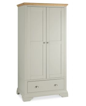 Bentley Designs Hampstead Soft Grey & Pale Oak Double Wardrobe