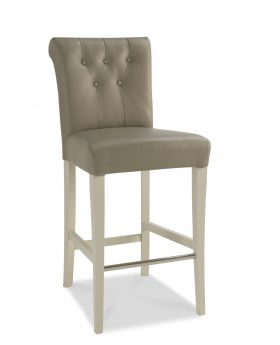 Bentley Designs Hampstead Soft Grey Upholstered Bar Stool (Pair)