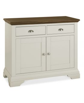 Bentley Designs Hampstead Soft Grey & Walnut Narrow Sideboard