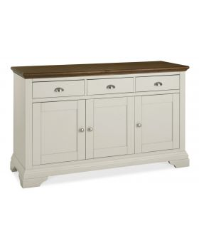 Bentley Designs Hampstead Soft Grey & Walnut Wide Sideboard