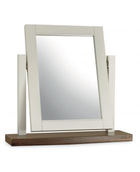 Bentley Designs Hampstead Soft Grey & Walnut Vanity Mirror