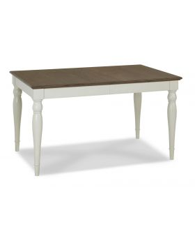 Bentley Designs Hampstead Soft Grey & Walnut 4-6 Extension Table - Rectangular