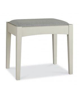 Bentley Designs Hampstead Soft Grey & Walnut Stool