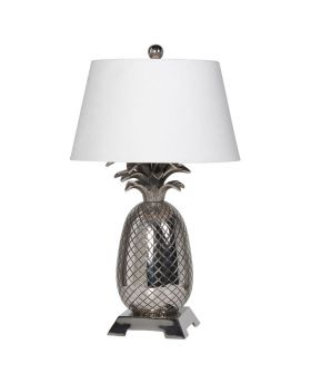 Chrome Pineapple Table Lamp with Shade
