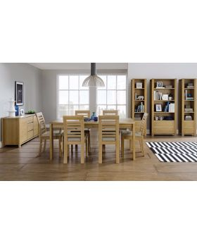 Bentley Designs Case Oak Dining Set Package Offer
