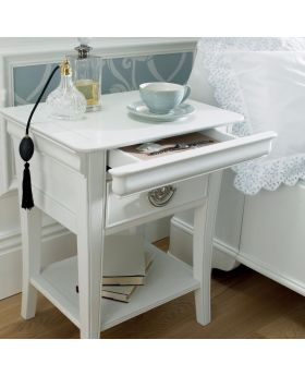 Bentley Designs Chantilly White 1 Drawer Nightstand