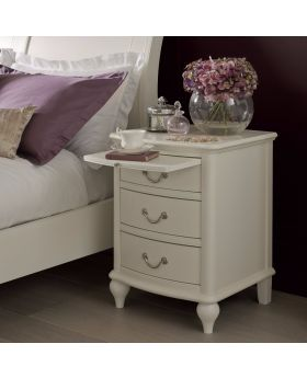 Bentley Designs Bordeaux Ivory 3 Drawer Nightstand