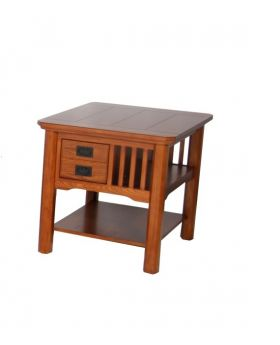 Value Mark Artisan Oak End Table with Drawers