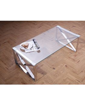 Serene Astra Polished Steel Coffee Table