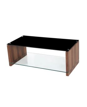 Value Mark Atlanta Coffee Table With Black Glass Top