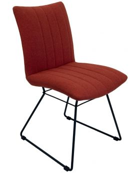 Pair of Aura Dining Chairs - Burnt Orange