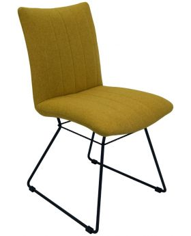 Pair of Aura Dining Chairs - Saffron