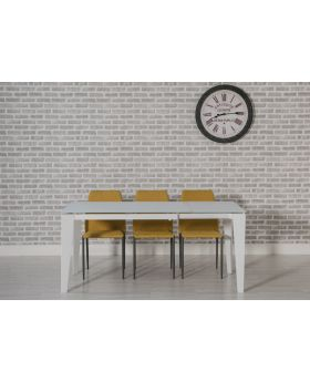 Avanti Glass Extending Table in White