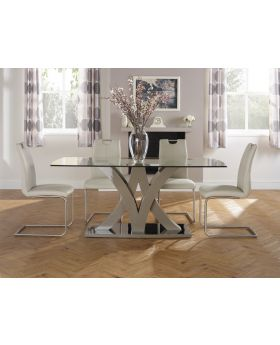 Serene Barcelona Glass Dining Table