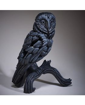Edge Sculpture Barn Owl Black
