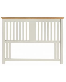 Bentley Designs Hampstead Soft Grey & Pale Oak Slatted Headboard