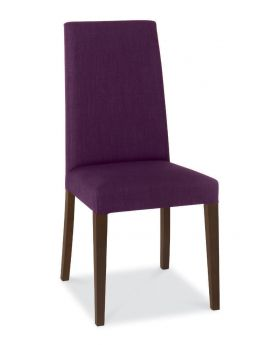 Bentley Designs Miles Walnut Taper Back Chair - Plum (Pair)