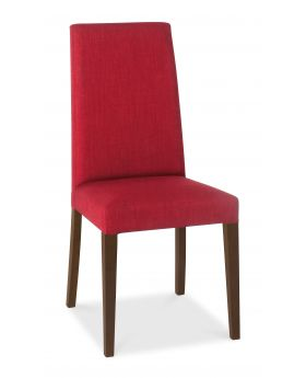 Bentley Designs Miles Walnut Taper Back Chair - Red  (Pair)