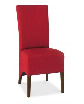 Bentley Designs Nina Walnut Wing Back Chair - Red  (Pair)